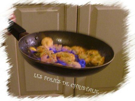 Crevettes flambées 2